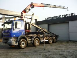 containersysteem vrachtwagen DAF CF 85.410  8x4 Euro 4  Fassi F260 XP  ATM Hooklift 2007