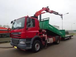 kipper vrachtwagen > 7.5 t DAF 85 CF 360 !! KIPPER + CRANE !! EURO 5 !! 2007