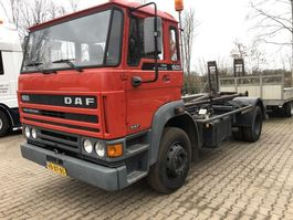 wissellaadbaksysteem vrachtwagen DAF 1900. Bladvering!  Steel suspention!! 1988