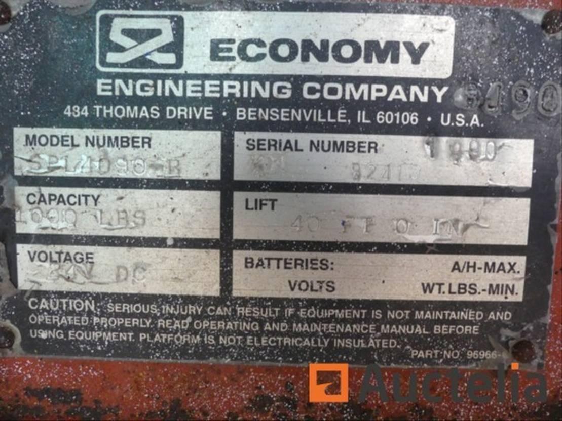hoogwerker aanhanger DIV. Economy SPL 4090 1990