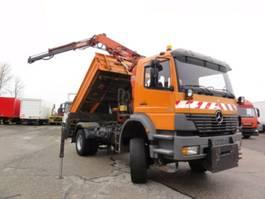 kipper vrachtwagen > 7.5 t Mercedes Benz Atego 1828AK manuell Meiller Kran Atlas Klima 2001