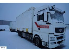 containersysteem vrachtwagen MAN TGX26.480 container truck with rear lift 2009
