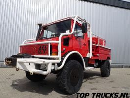 brandweerwagen vrachtwagen Unimog MB U1550 L37 - Fire Truck - Lier, Winch, Winde - Watertank - Pomp - Ding... 1995