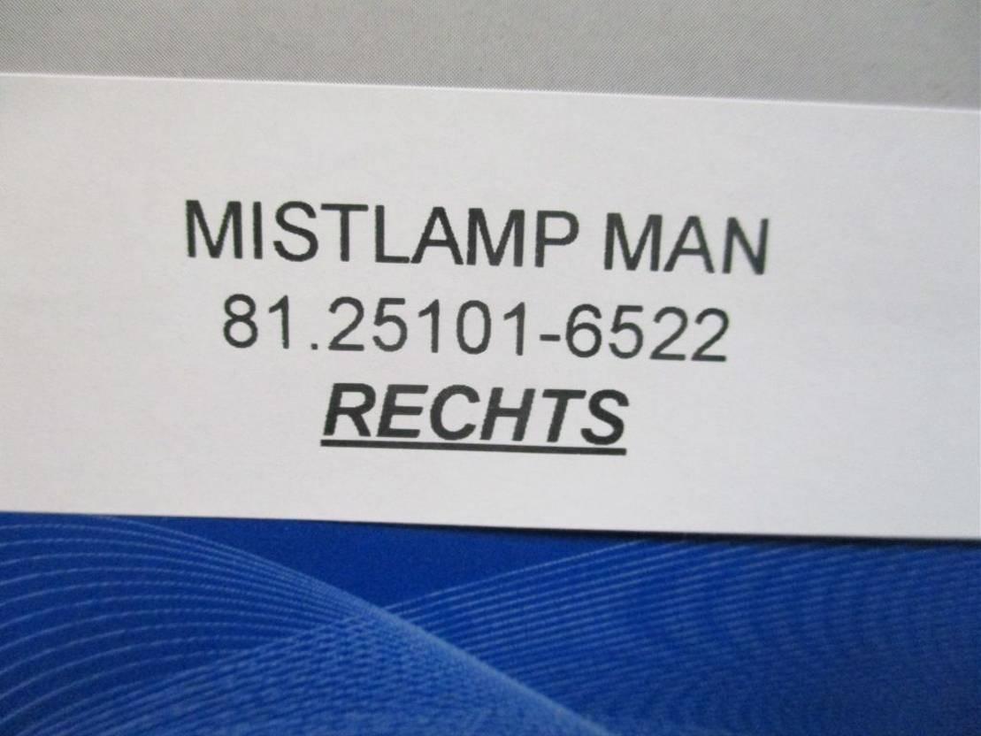 Mistlamp vrachtwagen onderdeel MAN 1.25101-6522 mistlamp rechts
