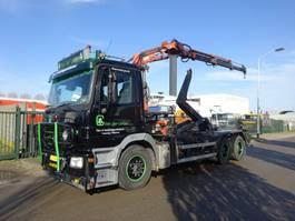 containersysteem vrachtwagen Mercedes Benz ACTROS 2636 6 X 4 !! HOOK + ATLAS CRANE !! KEURING 2021 !! 2005
