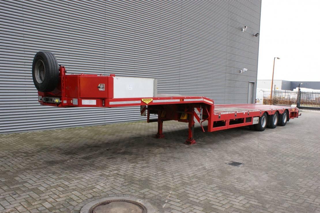 semi dieplader oplegger Broshuis 3 ASD-18-30/1 6.4 M Extandable! 2017