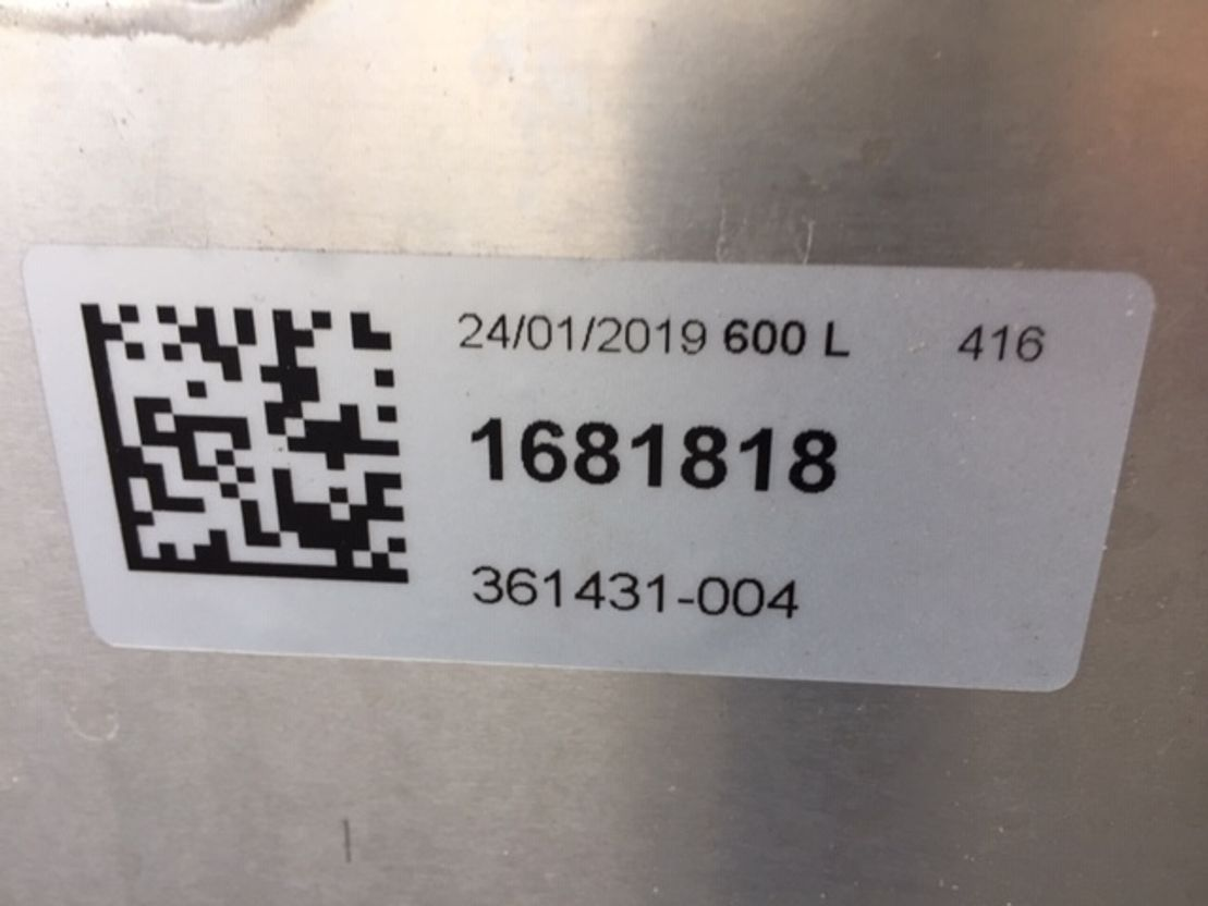 brandstof systeem bedrijfswagen onderdeel DAF 1681818 FUEL TANK 600 LTR