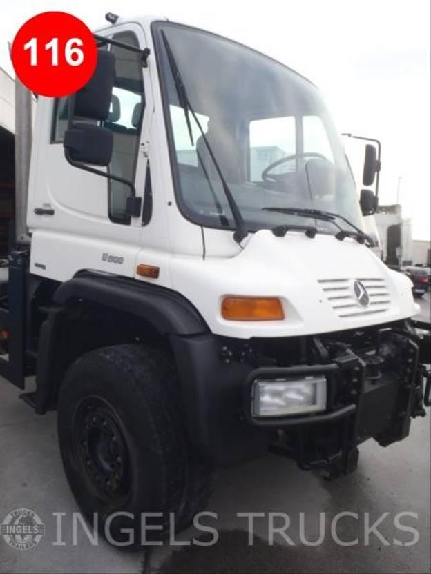 chassis cabine vrachtwagen Mercedes-Benz UNIMOG U500 286HP KORTE CABINE 2013