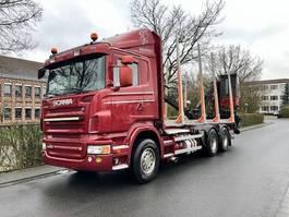 houttransporter vrachtwagen Scania R620 6X4 V8 Loglift 96S-78 R Ladekran Holz 2009