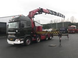 zware last trekker Scania R 480 8 X 4 FASSI 110 T/M 2006