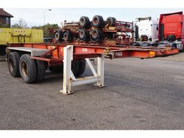 container chassis oplegger Van Hool Container chassis 20ft. / Full steel / vaste poten 1979