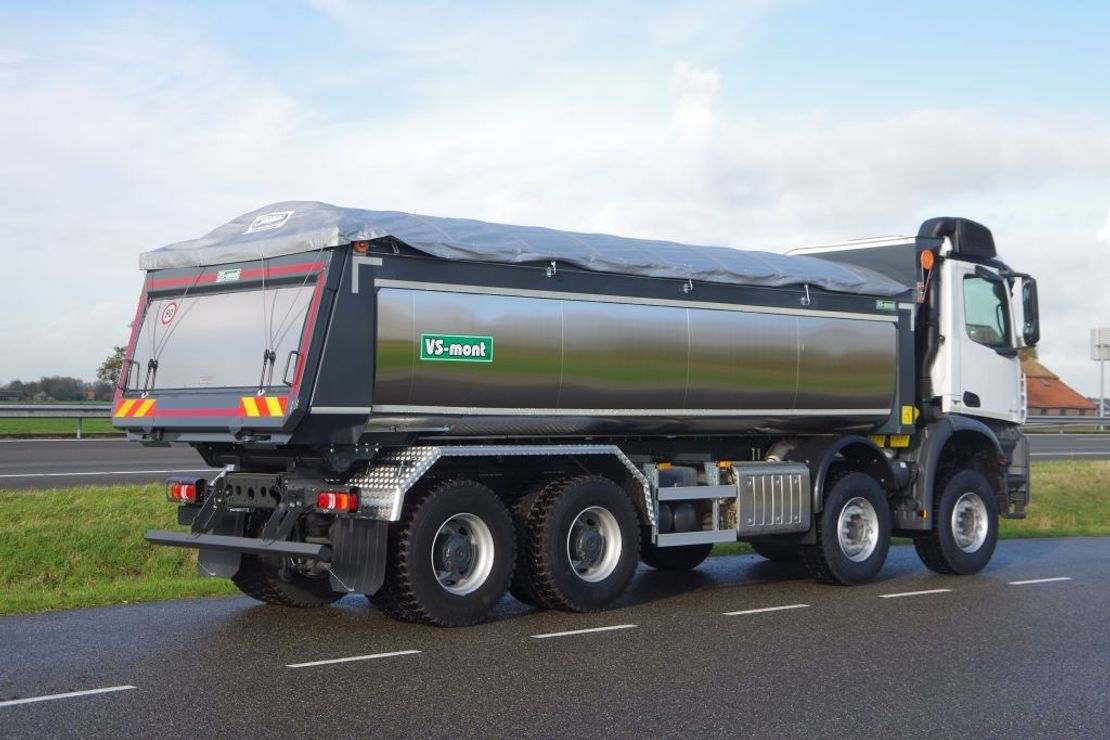kipper vrachtwagen > 7.5 t Mercedes-Benz Arocs 4145-K 8x4 - Euro 6 - 20m3 VS-Mont Isolated Tipper - HYVA Cover - NEW