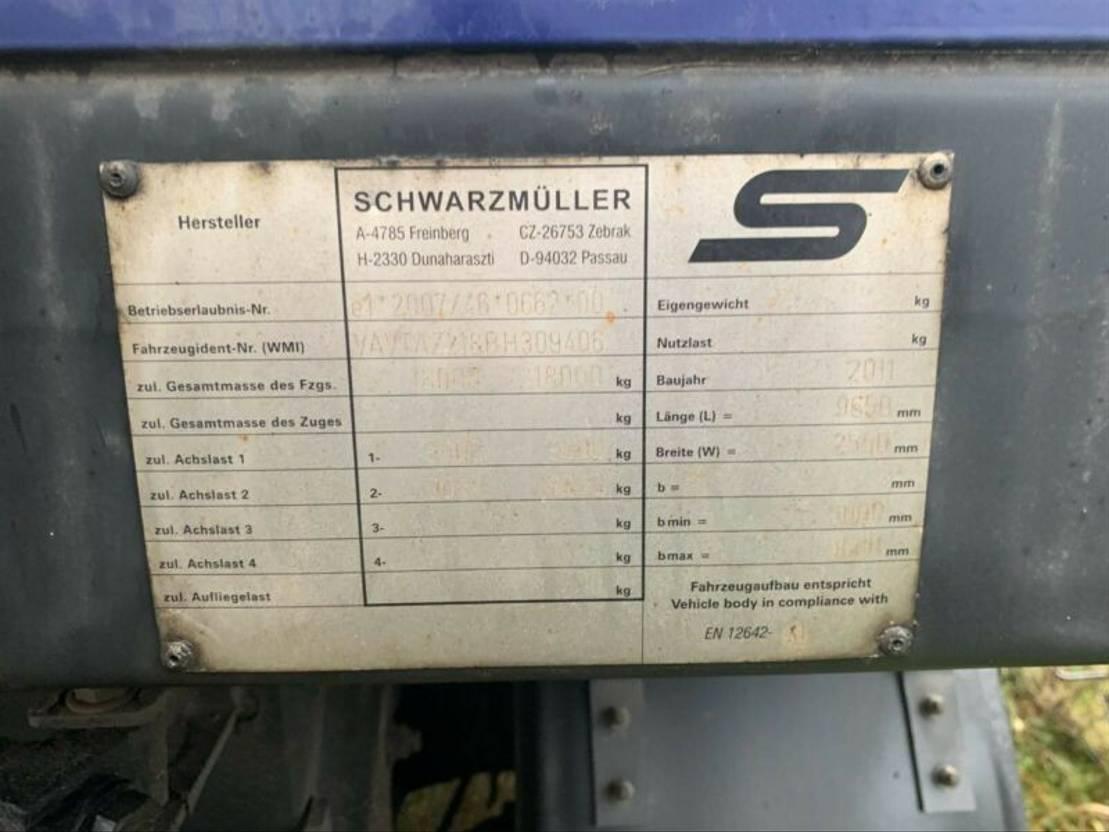 schuifzeil aanhanger DIV. 18t Pritsche/Plane Edscha TÜV neu no Tandem 2A