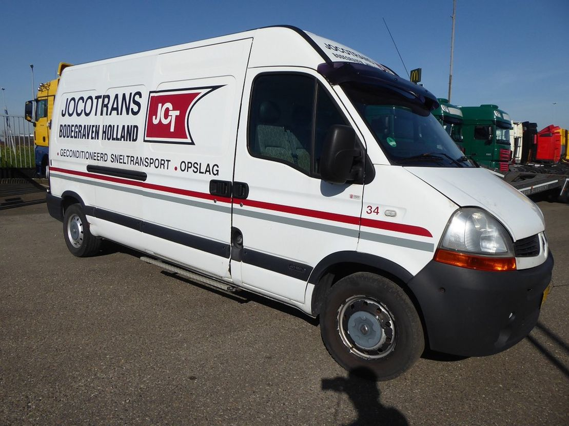 koelwagen bestelwagen Renault Master New alternator Frigo , 2,5 DCI , T 35 , Thermoking, airco , trekhaak 2008