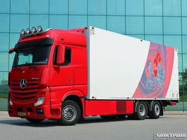 koelwagen vrachtwagen Mercedes Benz ACTROS 2548 E6 6X2 THERMO KING  ATP FRC 10-2020 TOP CONDITON HOLLAND TRUCK 2014