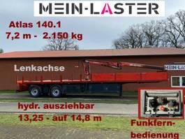 open laadbak oplegger Kran Atlas 140.1  2.150 kg- 7,2 m * Funk FB
