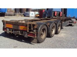 container chassis oplegger Renders 3 achs Container 20-30-40 ausziehbar, BPW luft Lift 2002