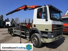 containersysteem vrachtwagen DAF 85 CF VDL haakarmsysteem met Palfinger PK13000 kraan 2001