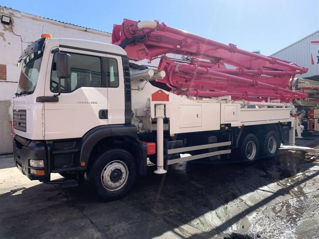 betonpomp vrachtwagen MAN Tga 33.360 Junjin 38 Z.15 2007