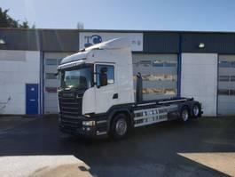 containersysteem vrachtwagen Scania R520 haaksysteem 6x2 2015