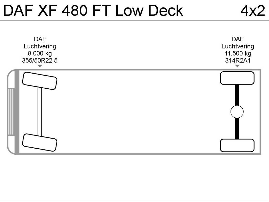 mega-volume trekker DAF XF 480 FT Low Deck 2017