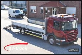 autotransporter vrachtwagen Scania P 280 4x2 LL, Tieflader, Rampen, Funk - Seilwinde 2010