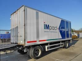 gesloten opbouw aanhanger Pacton 2 As Vrachtwagen Aanhangwagen Gesloten, WS-59-ZD 1997