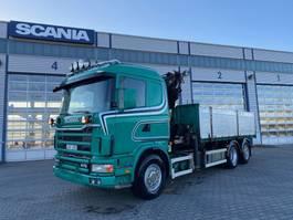 kraanwagen Scania 124 6x2 Grua Palfinger PK21000 5 lancas Basculante 3 lados 2002