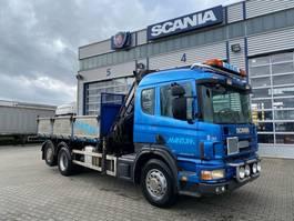 kraanwagen Scania 114 6x2 Grua Hiab 220 , 7 lancas!! Basculante 1999