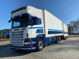 koelwagen vrachtwagen Scania R 500 6X2 EUR5 MANUAL GEARBOX RETARDER COMPLETE WITH TRAILER 2007