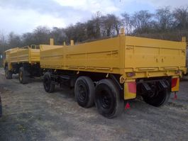 container chassis oplegger Schmitz Cargobull tri axle 15 ton drop side container Trailer Ex military 1990