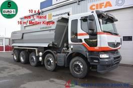 kipper vrachtwagen > 7.5 t Renault Kerax 520 DXI 10x4 Meiller 1.Hand Halfpipe Stahl 2012