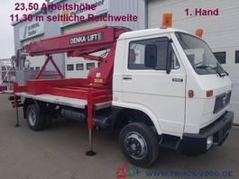 autohoogwerker bedrijfswagen MAN 6.100 Denka Lift 23,5m+seitlich 11,3m aus 1.Hand 1993
