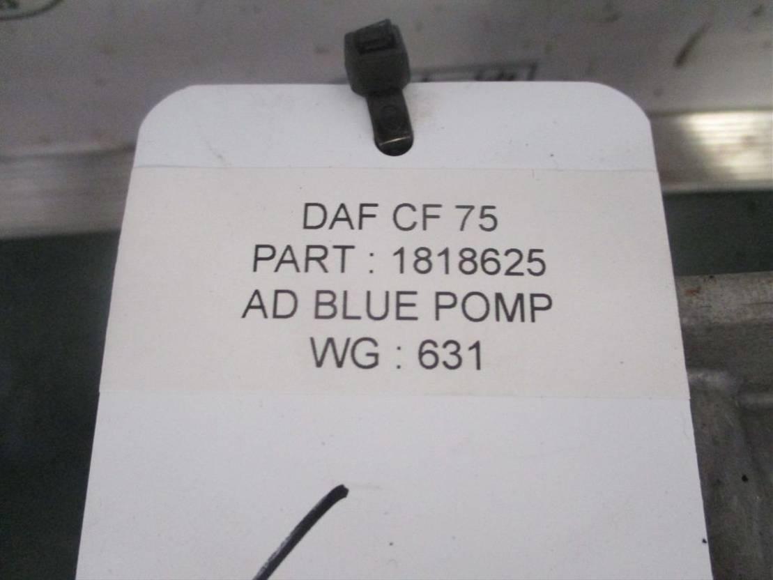 brandstof systeem bedrijfswagen onderdeel DAF 1818625 AD BLUE POMP DAF