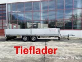 dieplader oplegger Möslein THT 11 Schwebheim  Tandem- Pritschenanhänger- Tieflader-- Neuwertig -- 2019