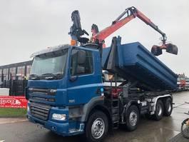 containersysteem vrachtwagen DAF CF 85.460 FAD 8X4 MET PALIFT 20 TON + EPSILON E110 2007