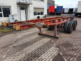 container chassis oplegger Fruehauf BPW - Steelspring - Dubble air 1990