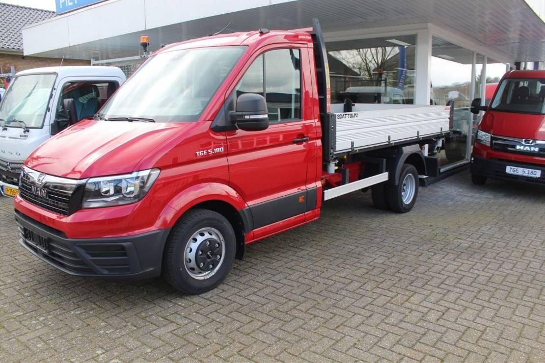 kipper bedrijfswagen MAN TGE 5.180 3 ZIJDIGE KIPPER ENKEL CABINE 2018