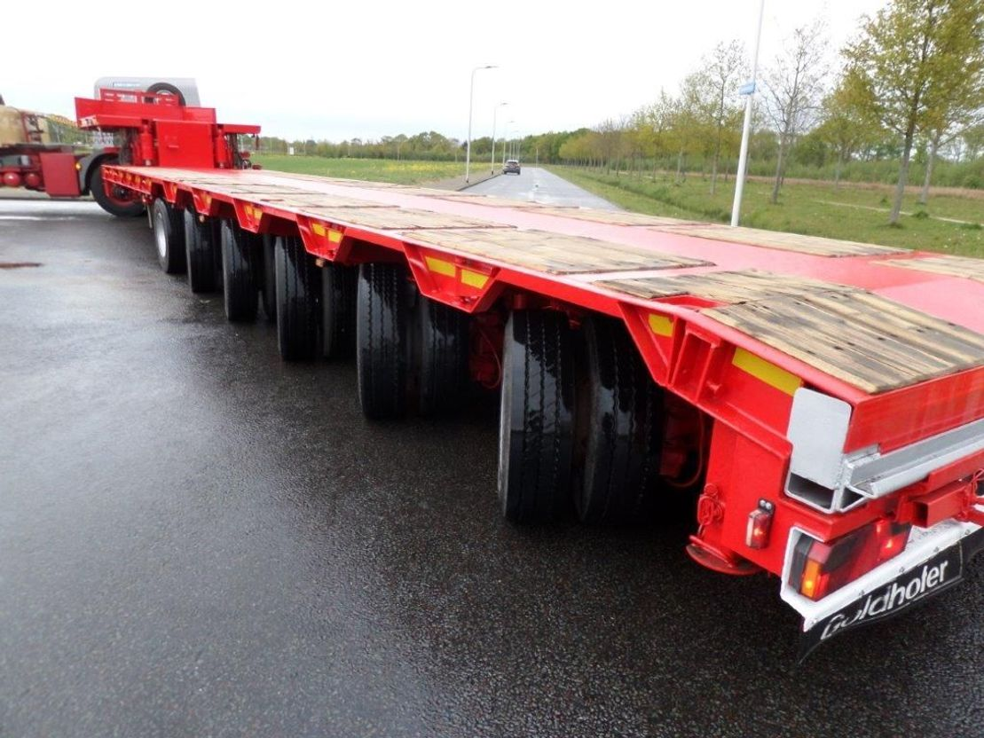 semi dieplader oplegger Goldhofer STZ L6-62/80 Double Extendable Semi Low Loader 2004