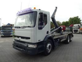 containersysteem vrachtwagen Renault 22C Abrollkipper HYVALIFT 6x4 Tachoscheibe AHK