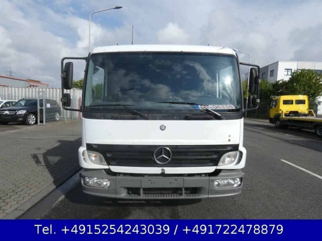 takelwagen bedrijfswagen Mercedes Benz Atego 815 Doppelstock Luftfederung TÜV 05.21