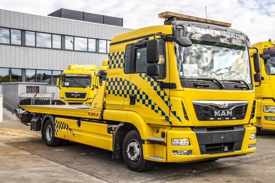 takelwagen-bergingswagen-vrachtwagen MAN TGL 12 BL-EURO 6+JIGE SIMPLEX 5T+Lepel 1750 kg 2015