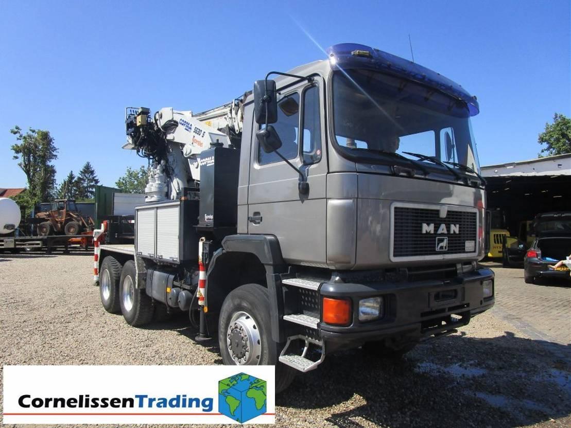 kraanwagen MAN F90 6x6 with Copma C 5630/5 crane 1996