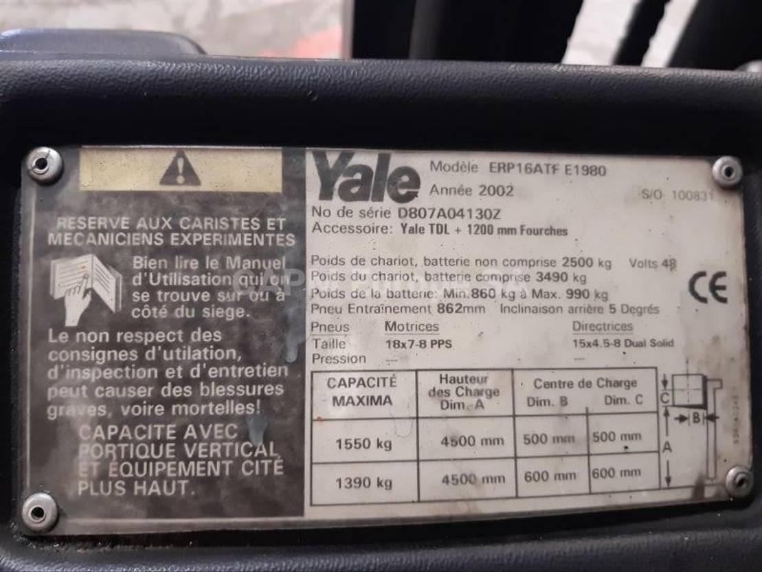 vorkheftruck Yale ERP16ATF 2002