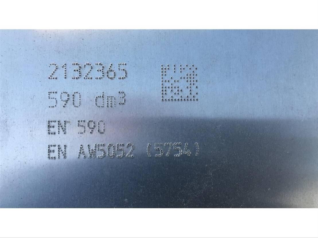 brandstof systeem bedrijfswagen onderdeel DAF 2132365 FUEL TANK 590 LTR 1592X675X620 MM 2019