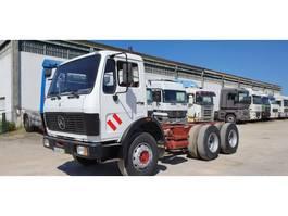 chassis cabine vrachtwagen Mercedes Benz 2228 - Big Axle - 6x4 - Full Steel Suspension