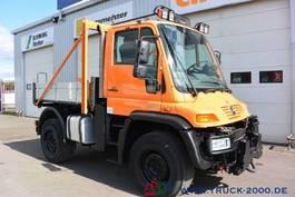 open laadbak vrachtwagen Unimog U 400 4x4 Winterdienst Wechsellenkung Klima AHK 2007