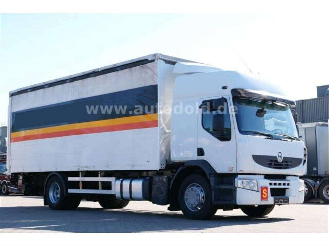 huifzeil vrachtwagen Renault Premium 370 DXi PritschePlane Edscha LBW Euro5 2008