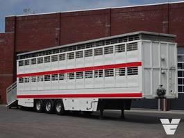 vee oplegger Samro Guitton 2 Stock Cattle / Livestock trailer 2006
