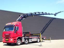 platform vrachtwagen Iveco AS 320S50 8x2 E5 / HIAB 85 t/m + jib KRAN / CRANE 2010
